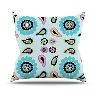 KESS InHouse Paisley Candy Throw Pillow; 26'' H x 26'' W