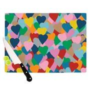 KESS InHouse More Hearts Cutting Board; 8.25'' H x 11.5'' W x 0.25'' D
