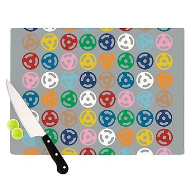 KESS InHouse Roll w/ It On Grey Cutting Board; 11.5'' H x 15.75'' W x 0.15'' D