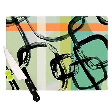 KESS InHouse Sixties Stripe Cutting Board; 8.25'' H x 11.5'' W x 0.25'' D