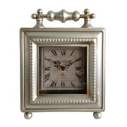 Cheungs Classic Square Table Clock; Silver