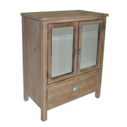 Cheungs 1 Drawer Wood cabinet w/ Double Bevelled Mirror Doors
