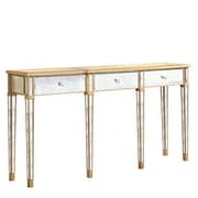 Elegant Lighting Florentine 3 Drawer Console Table; Gold & Antique Mirror