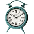 Cheungs Large Table Clock; Baby Blue