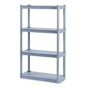 Iceberg Enterprises Rough 'N Ready 54'' H Four Shelf Shelving Unit Starter; Charcoal