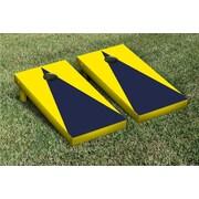 Victory Tailgate Matching No Stripe Version 1 Cornhole Boards Game Set; Bright Yellow / Navy Blue