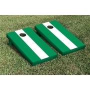 Victory Tailgate Matching No Stripe Version 2 Cornhole Boards Game Set; White / Light Green