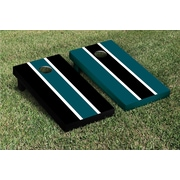 Victory Tailgate Striped Alternating Cornhole Boards Game Set; Midnight Green / Black