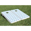 Victory Tailgate Basic Chevron Wedding Cornhole Game Set; Blue