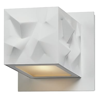 Philips Alps 1 Light LED Wall Sconce; High Gloss White