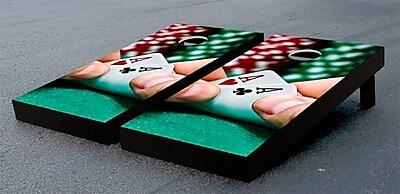 Victory Tailgate Poker Hand Cornhole Game Set