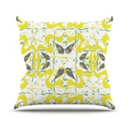 KESS InHouse Azulejos Throw Pillow; 18'' H x 18'' W