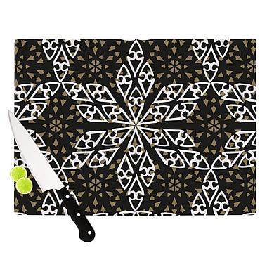 KESS InHouse Ethnical Snowflakes Cutting Board; 8.25'' H x 11.5'' W x 0.25'' D