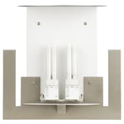 Philips Bow A La Carte 2 Light Wall Sconce; Satin Nickel