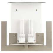 Philips Consumer Luminaire Bow A La Carte 2 Light Wall Sconce; Satin Nickel