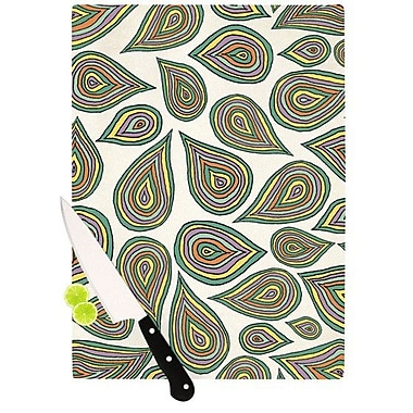 KESS InHouse Its Raining Leafs Cutting Board; 8.25'' H x 11.5'' W x 0.25'' D