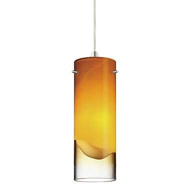 Philips 3.63'' Crete Glass Cylindrical Pendant Shade; Amber