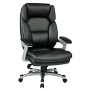Office Star Work Smart Executive Chair; Black/Silver