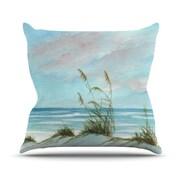 KESS InHouse Sea Oats Throw Pillow; 18'' H x 18'' W