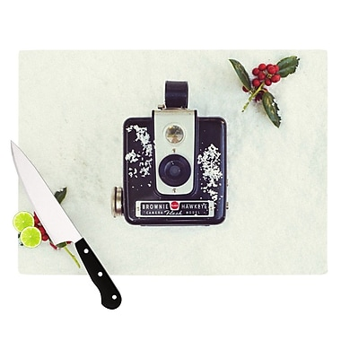 KESS InHouse The Four Seasons Winter Cutting Board; 8.25'' H x 11.5'' W x 0.25'' D