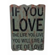 Cheungs Love The Life You Live Wall Decor