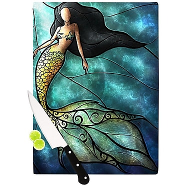 KESS InHouse Mermaid Cutting Board; 11.5'' H x 15.75'' W x 0.15'' D