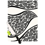 KESS InHouse Bird In Disguise White Pattern Cutting Board; 8.25'' H x 11.5'' W x 0.25'' D