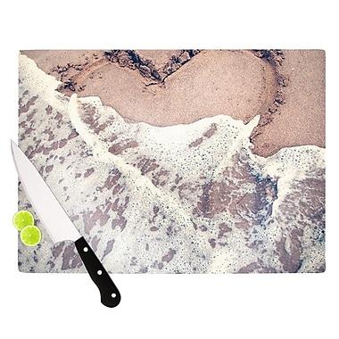 KESS InHouse Heart in The Sand Cutting Board; 11.5'' H x 15.75'' W x 0.15'' D