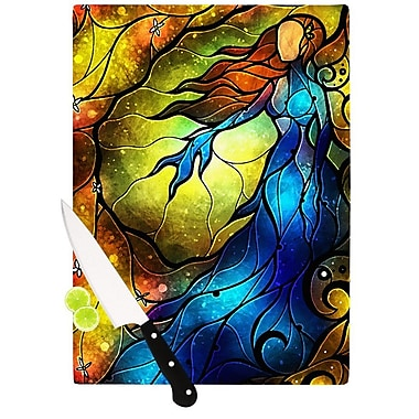 KESS InHouse Wishing You Were Here Cutting Board; 8.25'' H x 11.5'' W x 0.25'' D