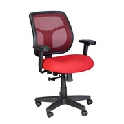 Eurotech Seating Apollo Mid-Back Mesh Swivel Chair with Arms; Red