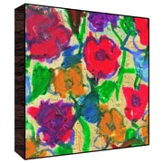 Green Leaf Art Bright Flowers I Painting Print