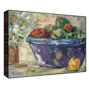 Green Leaf Art Fruits on Table II Painting Print