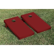 Victory Tailgate Solid Cornhole Boards Game Set; Dark Maroon