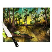 KESS InHouse Alligator Swamp Cutting Board; 8.25'' H x 11.5'' W x 0.25'' D