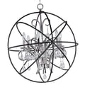 Maxim Lighting Orbit 6 Light Candle Chandelier; Anthracite and Polished Nickel