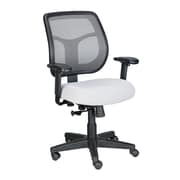 Eurotech Seating Apollo Mid-Back Mesh Swivel Chair with Arms; Silver