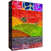 Green Leaf Art Mountain View II Painting Print Plaque