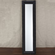 Twos Company Mission Dots Tall Mirror - Faux Leather/MDF/Glass
