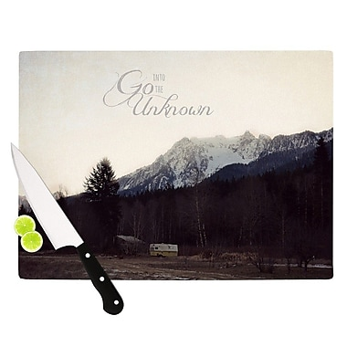 KESS InHouse Go into The Unknown Cutting Board; 8.25'' H x 11.5'' W x 0.25'' D