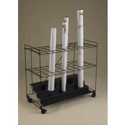 Mayline 32'' 36 Compartment Roll File Cart