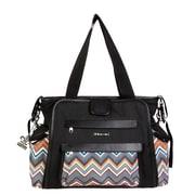 Kalencom Black / Safari ZigZag Shoulder Bag