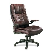 Mayline Series 100 High-Back Leather Executive Office Chair; Burgundy
