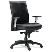 Mayline Silhouette Mid-Back Leather Office Chair