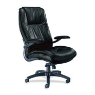 Mayline Series 100 High-Back Leather Executive Office Chair; Black