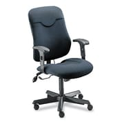 Mayline Mid-Back Fabric Executive Posture Chair; Gray / Charcoal