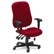 Mayline Mid-Back Fabric Executive Posture Chair; Burgundy