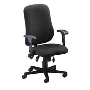 Mayline Mid-Back Fabric Contoured Support Chair; Gray / Charcoal