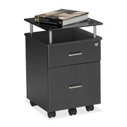 Mayline Vision 2-Drawer Mobile Vertical File; Anthracite / Smoked Black
