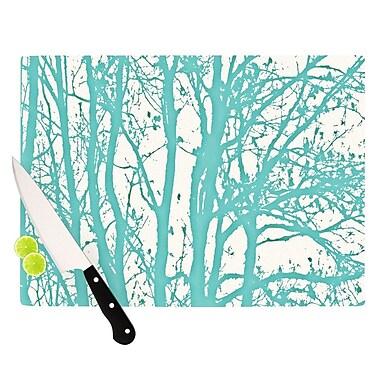 KESS InHouse Mint Trees Cutting Board; 8.25'' H x 11.5'' W x 0.25'' D