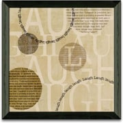 Timeless Frames Circle of Words Laugh Framed Textual Art